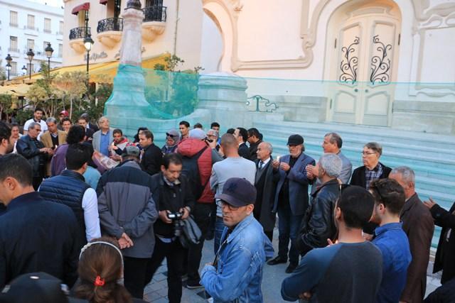 Manifestation pour la paix en fin d'après-midi à Tunis