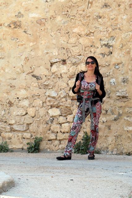 Laura dans la médina de Sousse