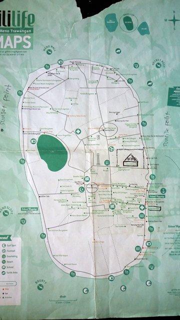 le plan de l'île
