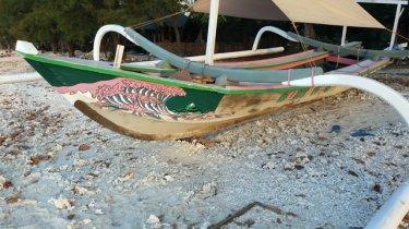 bateau de pêche à Gili Meno