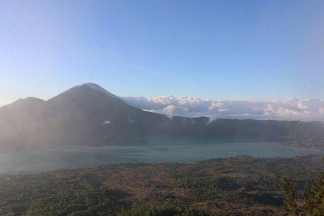 depuis le mont Batur