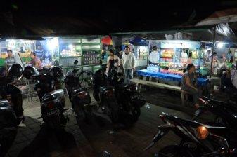 dîner au marché nocturne de Tegalalang