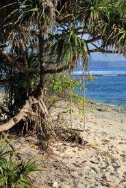balançoire sur la plage de Gili Meno