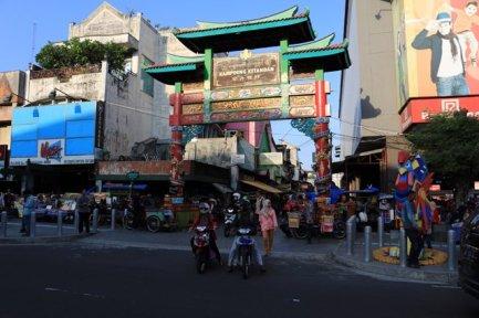 dans la rue principale de Malioboro