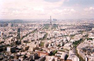 Paris depuis la terrasse de la tour Montparnasse (mai 1991)