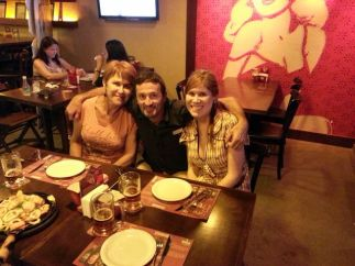 avec Isabel et Suzana lors ma venue chez elles à Curitiba