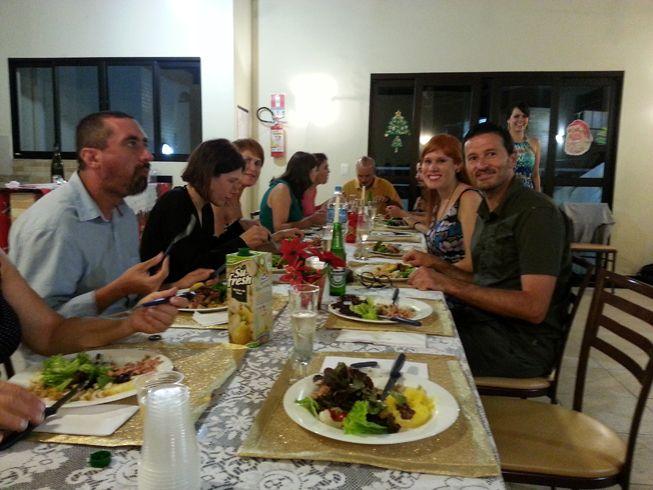 soirée de Noël à Curitiba