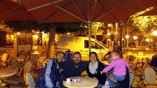 Majdi, Thierry, Laura, l'épouse et la fille de Majdi