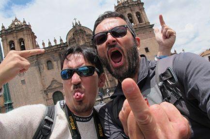 faisant les zouaves avec Felix à Cusco