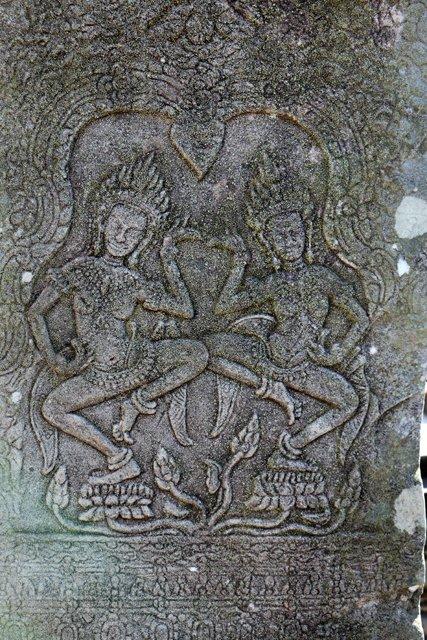 les temples d'Angkor - bas relief - le Bayon