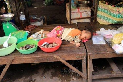 marché Phsar Leu à Siem Reap