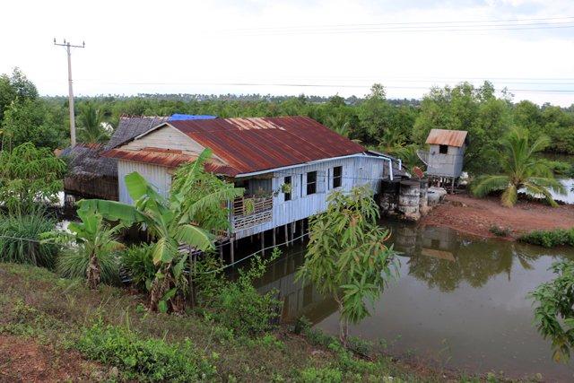 sur la route de Kep à Kampot