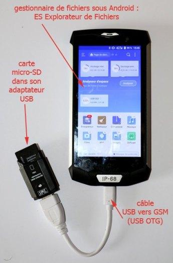 Copie de fichier(s) sur la carte micro-SD depuis le GSM - l'autre ailleurs, une autre idée du voyage