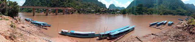 vue panoramique sur le fleuve Nam Ou - l'autre ailleurs, une autre idée du voyage