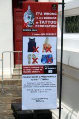 Avertissement : le bouddha n'est pas une décoration, avis aux amateurs de tatouage - Bangkok - l'autre ailleurs, une autre idée du voyage