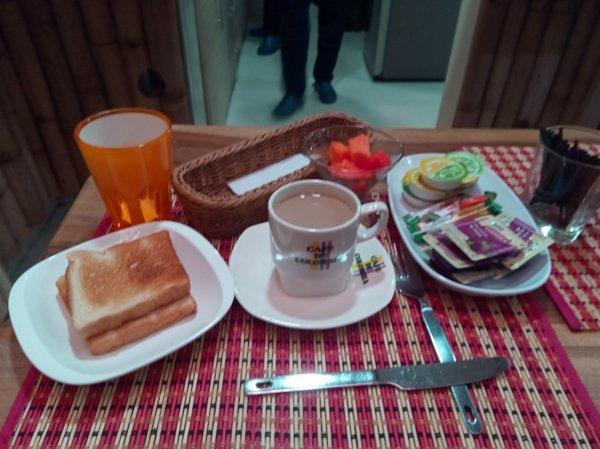 petit déjeuner dans l'hôtel Sierra Nevada à Santa Marta - l'autre ailleurs en Colombie, une autre idée du voyage