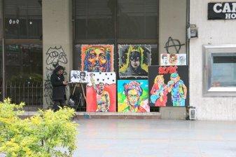 rue commerçante au centre de Bogotá - l'autre ailleurs en Colombie, une autre idée du voyage