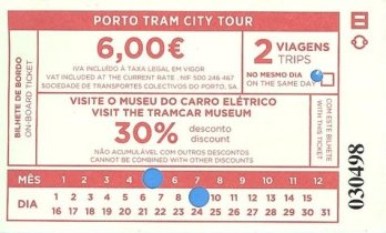 Ticket de Tram A/R pour aller voir la mer - l'autre ailleurs à Porto, une autre idée du voyage
