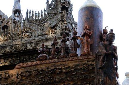Shwe Nandaw Monastary à Mandalay - l'autre ailleurs au Myanmar (Birmanie) et Thaïlande, une autre idée du voyage