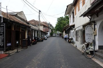 dans la rue de la partie vieille ville de Galle - l'autre ailleurs au Sri-Lanka, une autre idée du voyage