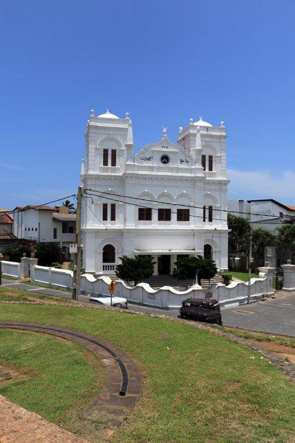 une mosquée dans la partie vieille ville de Galle - l'autre ailleurs au Sri-Lanka, une autre idée du voyage