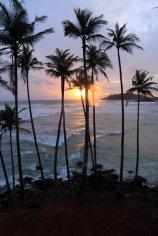 coucher de soleil sur la plage des cocotiers à Mirissa - l'autre ailleurs au Sri-Lanka, une autre idée du voyage