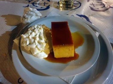 un dessert assez moyen au restaurant Kamenice à Dubrovnik - l'autre ailleurs en Croatie, une autre idée du voyage