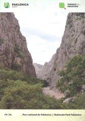 le couverture du guide Parc National Paklenica offert lors de l'achat du ticket d'entée - l'autre ailleurs en Croatie, une autre idée du voyage