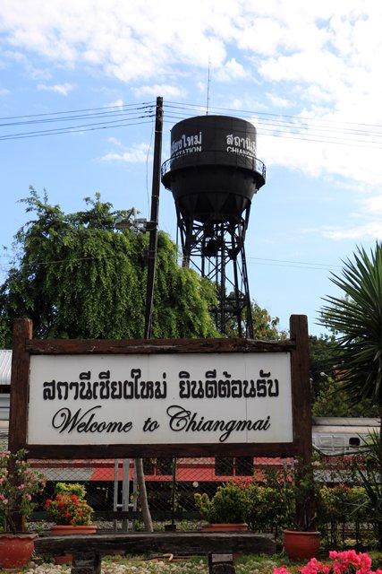 bienvenue à Chiang Mai, à la gare ferroviaire - l'autre ailleurs au Myanmar (Birmanie) et Thaïlande, une autre idée du voyage