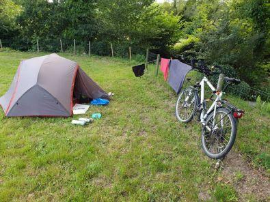 camping municipale de Guémené sur Scorff (56) , minimaliste, un vrai bonheur - merci à la mairie - l'autre ailleurs en Vélo, une autre idée du voyage (www.autre-ailleurs.fr)