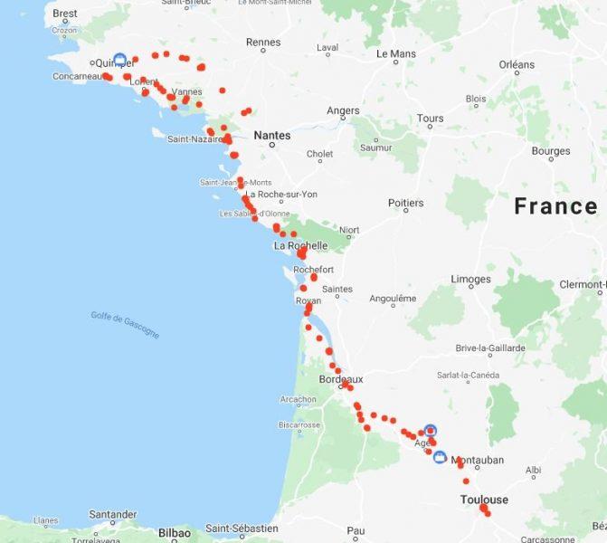 Le périple en vélo de Toulouse vers la Bretagne - l'autre ailleurs en Vélo, une autre idée du voyage (www.autre-ailleurs.fr)