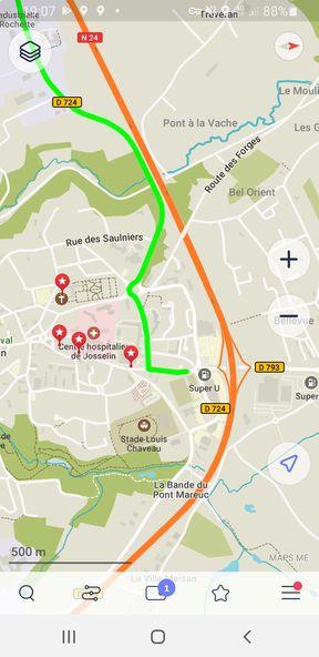 L'application sur mobile Masp.me (crédit : https://maps.me/) - l'autre ailleurs en Vélo, une autre idée du voyage (www.autre-ailleurs.fr)