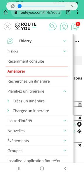 Import d'un fichier GPX dans Route You (https://www.routeyou.com/fr-fr/) - étape 2 - l'autre ailleurs en Vélo, une autre idée du voyage (www.autre-ailleurs.fr)