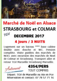 MARCHE DE NOEL EN ALSACE de Colmar et Strasbourg