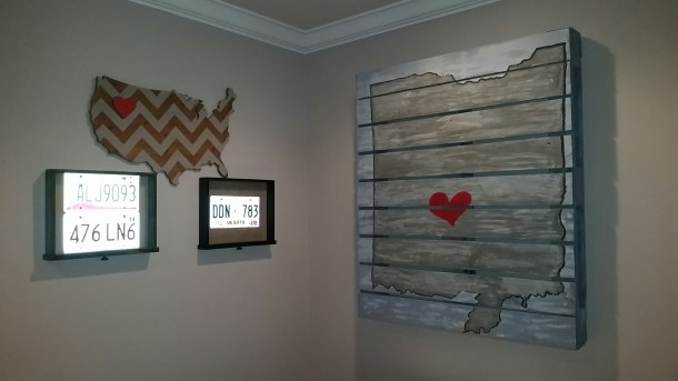Basement Pallet Art