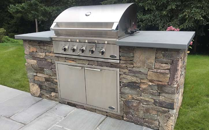 Elegance & Charm for a New Pool & Patio. Huntington, Long ... on Patio Grill Station  id=51705