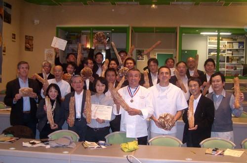 Japonais à l'école de boulangerie d'Aurillac