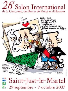 St just, Salon du dessin de presse, de l'humour, caricature, Saint Just en haute vienne, affiche de Plantu