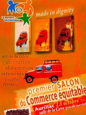 Salon du commerce équitable à Aurillac, Cantal, Auvergne