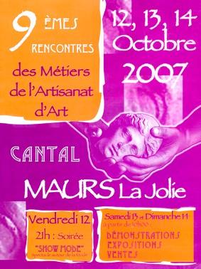 Rencontres des Métiers de l'artisanat d'art, Maurs, Cantal, Auvergne