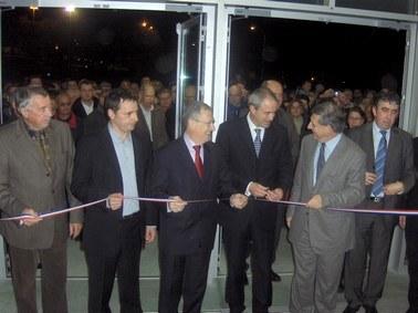 Inauguration du prisme à Aurillac par les élus du Cantal
