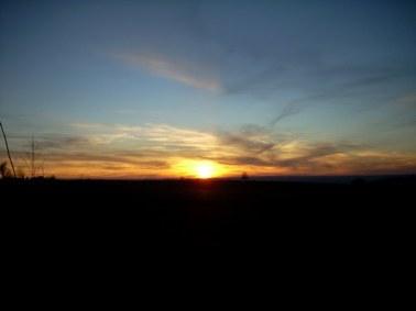 Coucher de soleil, Cantal