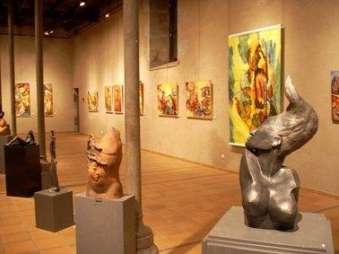 Exposition au Ecurie à Aurillac, Marèze et Lacouchie, salon de la société artistique du Cantal