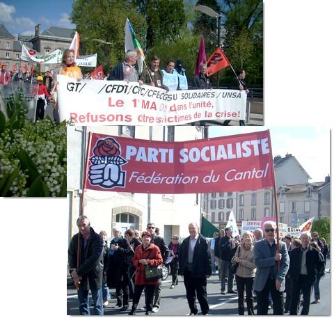 Manifestation du 1er mai 2009 à Aurillac