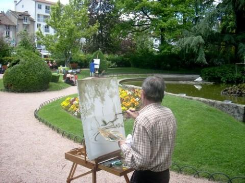 Des peintres au jardin du square, Daniel Gadet