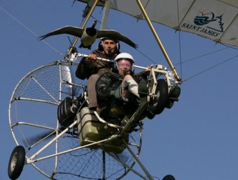 Christian Moullec et James Hoggan au dessus de l'Ecosse