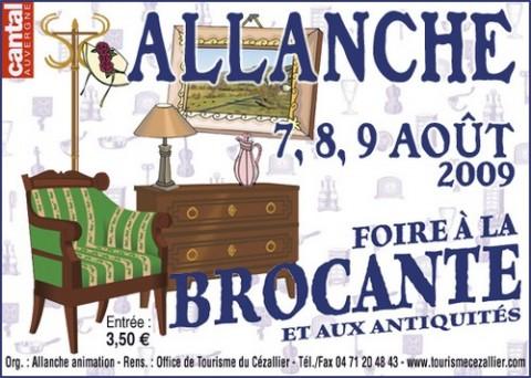 Foire à la brocante 2009 à Allenche, Cantal