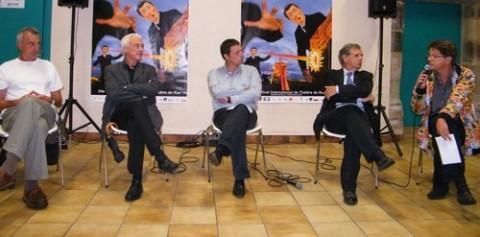 Jean Marie Songy à droite et élus d'Aurillac et de la CABA
