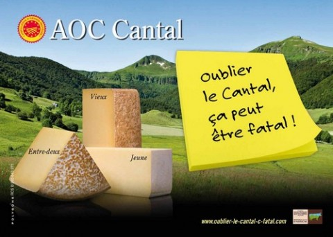 AOC Cantal, la publicité