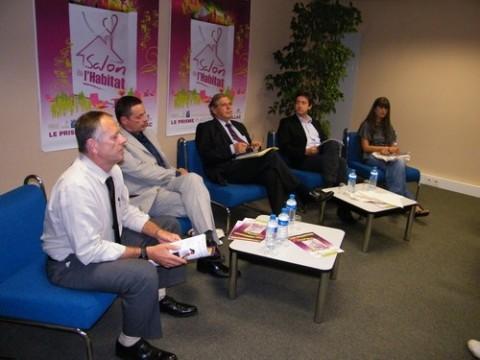 Les organisateurs et partenaires pour la présentation du Salon